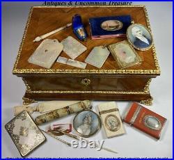 Antique Napoleon III era French Kingwood Jewelry, Desk Box, Chest 13.25+