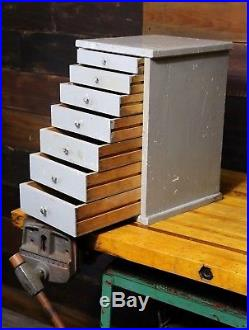Antique Primitive 7 Drawer Cupboard-Apothecary Cabinet Spice Box Chest Jewelry