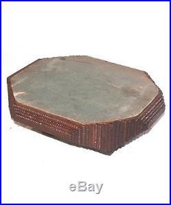Antique Primitive Tramp Art Hinged Box Jewelry Box hand made unique