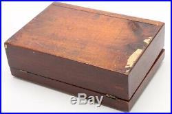 Antique Shaker Mahogany Sewing Document Box Jewelry Tea Caddy