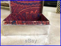 Antique Sterling Silver Wood Cigarette Trinket Jewelry Box Edward Glasgow Comyns