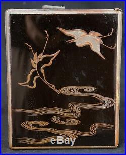Antique Takarabako Japanese lacquered jewelry box 1890s Japan Nurimono craft