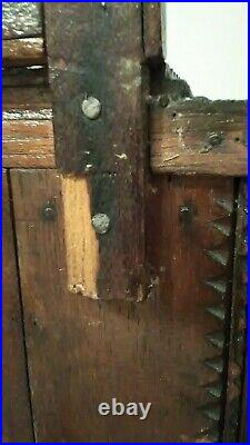 Antique Tramp Art Folk Art Wood Childrens Miniature Dresser/ Jewelry Box
