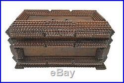 Antique Tramp Art Jewelry Box, Flemish