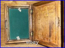 Antique Tunbridge Jewelry Box Desk Tidy