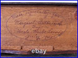 Antique VINTAGE Salesman Sample DOLL CHEST DRAWERS Jewelry BOX Walnut MINIATURE