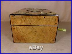Antique Victorian Burr Walnut Neo-gothic Jewellery/sewing Box. C1830-1840 (c481)