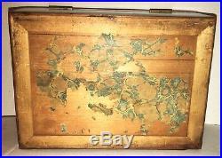 Antique Victorian Casket Mahogany Document Box Jewelry Tea Caddy