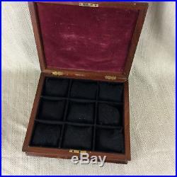 Antique Victorian Gentleman's Watch & Jewellery Box Rosewood Armorial Crest