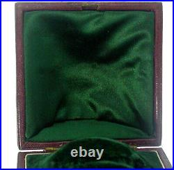 Antique Victorian Quality Jewellery Fitted Presentation Case Shaped Box