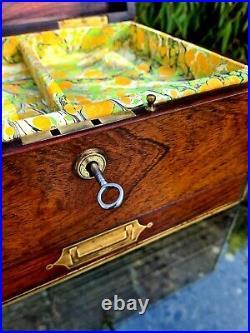 Antique Victorian Rosewood Jewellery Box