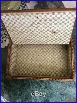 Antique Victorian Tunbridge Ware Ring / Jewellery Box Original Interior 1880's
