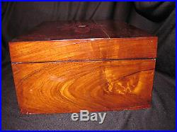 Antique Victorian Walnut Inlaid Jewelry Box Circa 1875