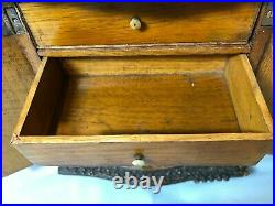 Antique Vintage Hand Carved Ornate Jewelry Box