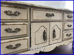 Antique Vintage Jewelry Music Box White Wood Jewlery Organizer Decor Free Shipp