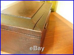 Antique Wood Casket Document Box American Eagle Civil War Military Jewelry Box