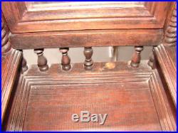 Antique Wood Wooden Handmade Victorian Dresser Jewelry Box Mirror Doll Furniture