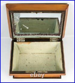 Antique c. 1820s French Palais Royal Sewing, Jewelry Box, Lemonwood, Missing Tool