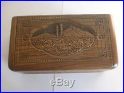Armenian traditional jewelry box HANDMADE WOOD JEWELRY BOX MOUNTAIN ARARAT
