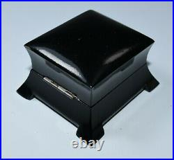 Art Deco Jewelry Ring Box Lacquered Wood Vintage Handmade
