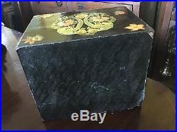Arts And Crafts decoupage Jewelry Box 10.5 X 12.5 X 9.5