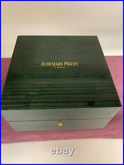 Audemars Piguet Green Wood Watch Box Ref EV. 700.023 Mint Condition