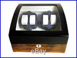Automatic Watch Winder Two Tone Watch Storage Jewelry Box Safe Top Quality Wind