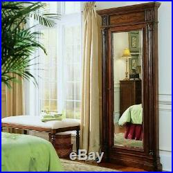 Beaumont Lane Jewelry Armoire with Mirror in Cherry