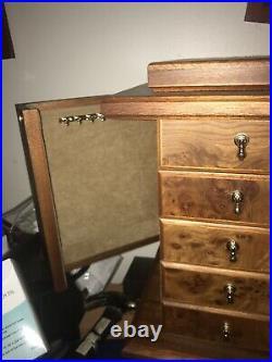 Beautiful Agresti Briarwood Jewelry And Watch Box