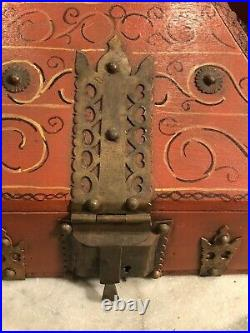Beautiful Antique Kerala Traditional Indian Dowry Jewelry Decorated Box