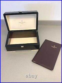 Beautiful Polished Wood Patek Philippe Display Box With Leather Folder