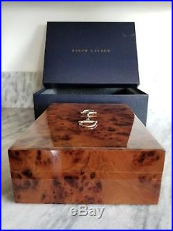Beautiful Ralph Lauren Rare Italian Luxury Jewelry Box Brown Barnard Burlwood