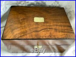 Beautiful Satin Wood, Victorian Jewellery Sewing Box, With Lock And Key
