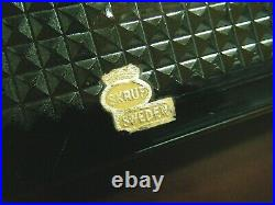 Bengt Edenfalk Vintage 1960s MCM Blue Glass Lid & Teak Wood Jewelry Box Sweden