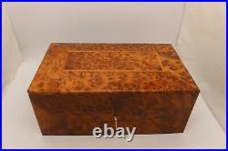 Big Handmade Burl Wood Box, Large Wooden Jewelry Box For Women, Jewelry Organizer