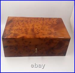Big Wooden Jewelry Box, Large Jewelry Organizer Box, Decorative Lockable Burl Box