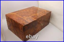 Big Wooden Jewelry Box Made Of Thuya Burl, Storage Box, Decorative Lockable Box