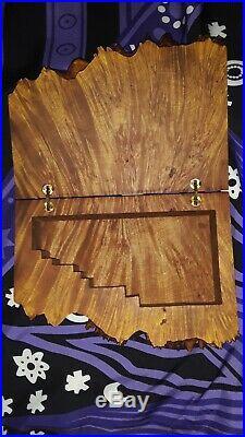 Birds'eye Maple Burl Wood Jewelry/Trinket Box, signed By Michael Elkan