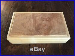 Bolstad Woodworks Handmade Wood Jewelry Box Organizer Artist Signed Maple Burl