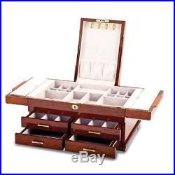Bubinga (African Rosewood) Veneers with Mapa Burl Inlay Jewelry Box