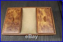 Burled Walnut Jewelry Box Valet by Osvaldo Agresti Italy Mid Century Modern