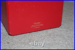 CARTIER Red Leather Watch and Jewelry Box COWA0045