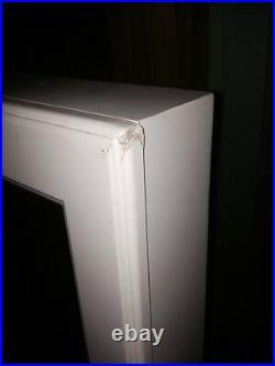 CHEVAL MIRROR FLOOR STANDING JEWELRY ARMOIRE CABINET White LOCKS Anit-tarnish