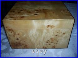 CUERVO Y SOBRINOS Cigar Humidor Jewelry Watch Box Birds Eye Burl Wood