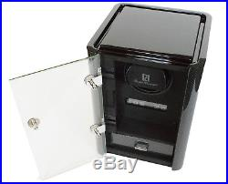 Carbon Fiber Single Watch Winder Box with Jewelry Storage Drawer by Paul Design