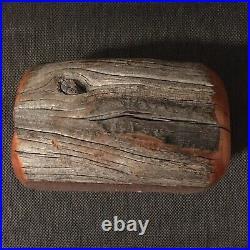 Cedar Fencepost Jewelry Trinket Box Paul Brimhall Signed Rio Grande Woodworking