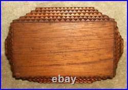 Circa 1890 to 1910 Small Tramp Art Jewelry Box