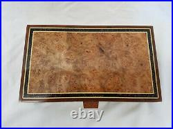 Claro walnut Jewlery box with Maple Burl Panel