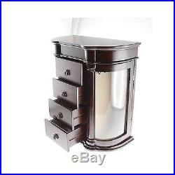 Classic Charry finish jewelry box Organizer Storage Container 13H x 12W x 6D