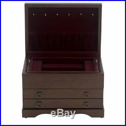 Colonial Mahogany Jewelry Box Chest by Reed and Barton 646MR
